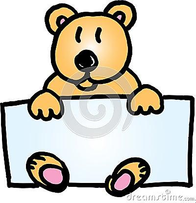 Teddy bear name badge