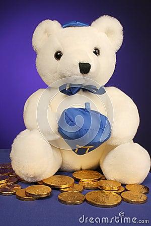 Teddy bear ready for Hanukkah