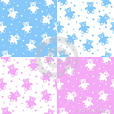 Teddy Bear Seamless Patterns