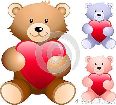 Free Teddy Bear Set Stock Photography - 12301112