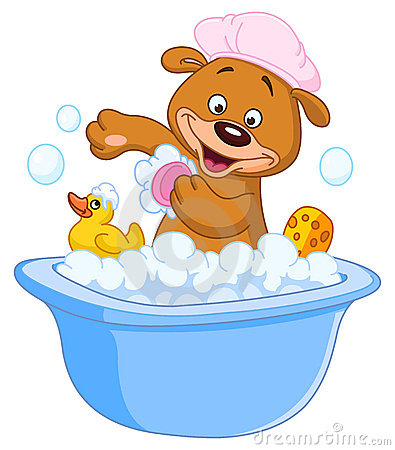Free Teddy Bear Taking A Bath Royalty Free Stock Photography - 22912447