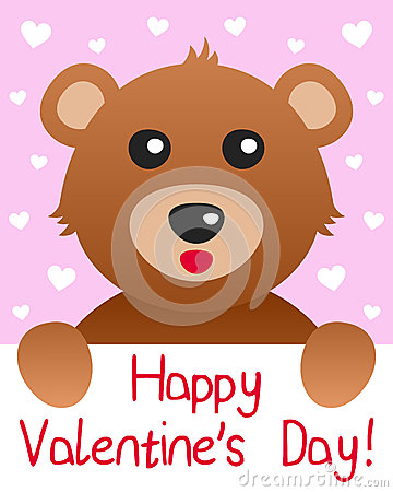 Teddy Bear Valentine s Day Card