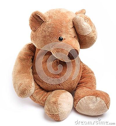 Teddy bear in a worry.