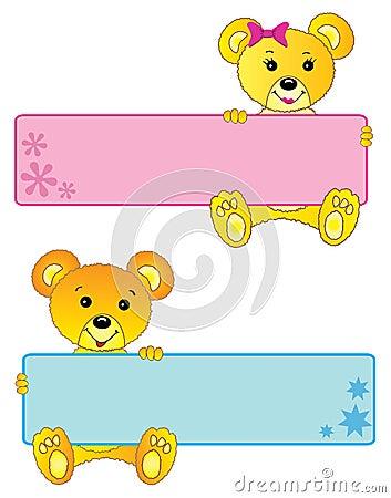 Teddy bears banners