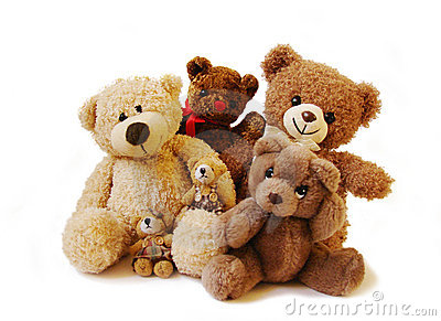 Teddy bears family