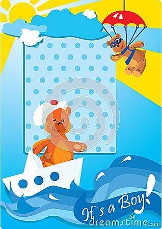Teddy bears for a little baby boy