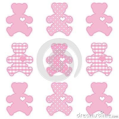Teddy Bears, Pastel Pink