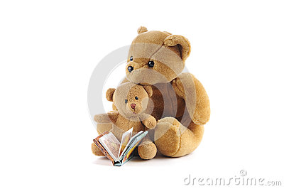 Teddy bears and a story book