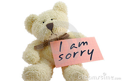 Teddy I Am Sorry Stock Photography Image 1676322