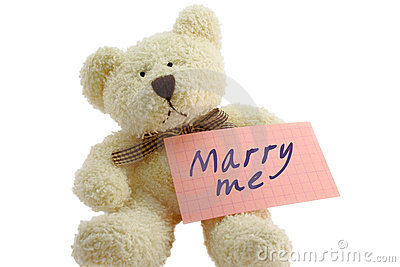 Teddy - marry me