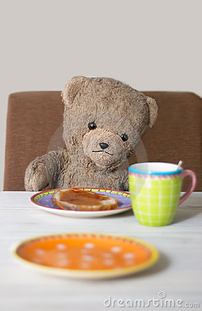 Teddy in the morning
