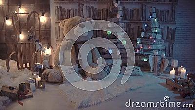 Teddy oso garganta de Navidad metrajes