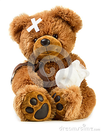 Free Teddy With Bandage Stock Photos - 40372743