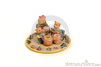 Teddybär-Tee-Set