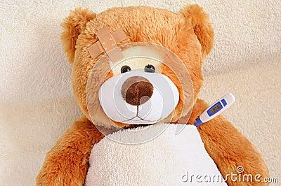 Teddybear in Bed