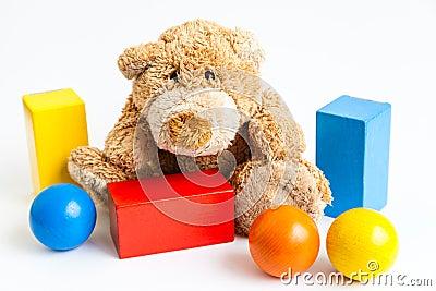 Teddybear and bricks
