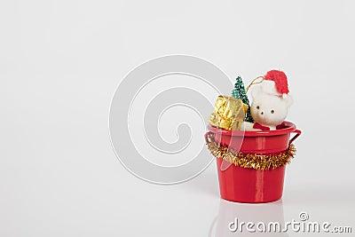 Teddybear in bucket