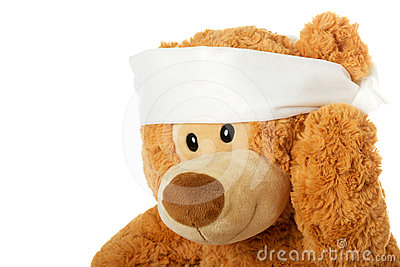 Teddybear with headache