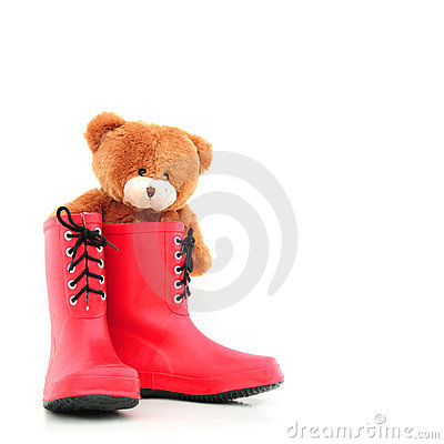 Teddybear in rubber boots