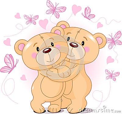 Teddyberen in liefde