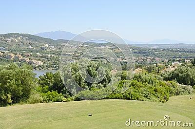 Tee golf course