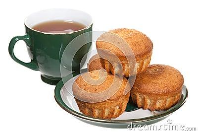 Tee und Muffins