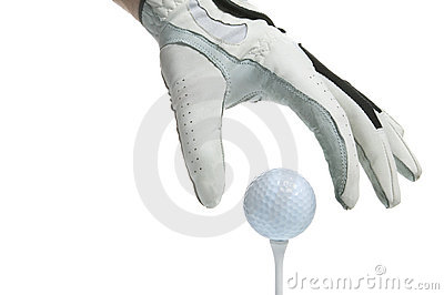 Tee Up golf glove and ball