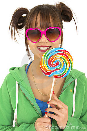 Free Teen And Candies Royalty Free Stock Photo - 19549615