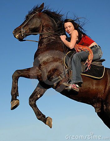 Free Teen And Horse Stock Images - 2030614