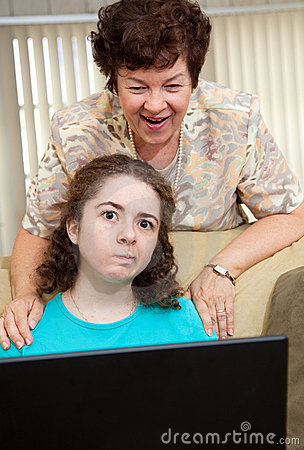 Teen Annoyed by Mom
