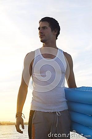 Teen on the beach