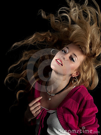 Free Teen Beauty Shaking Hair Stock Images - 8097164