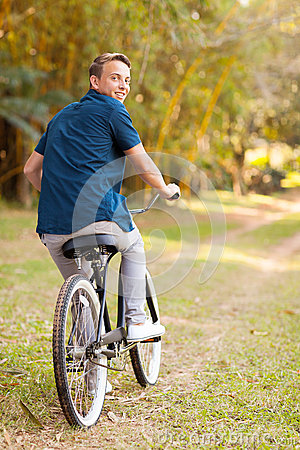 Teen boy bicycle
