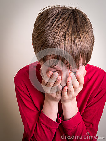 Teen Boy Crying