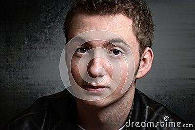 Teen boy grunge portrait