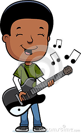 Teen Boy Guitar Stock Vector - Image: 47060900