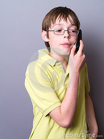 Teen Boy on the Phone