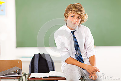 Teen boy student