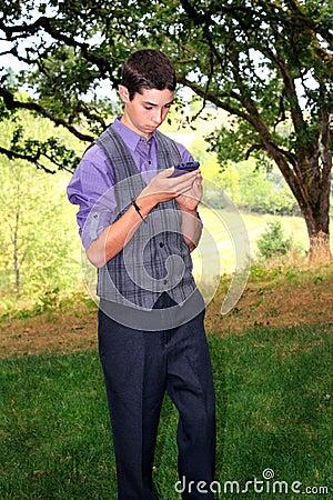 Teen Boy Texting