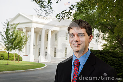 Teen boy at the White House