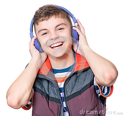 Free Teen Boy With Headphones Royalty Free Stock Images - 91452519