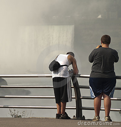Teen boys at niagars falls Editorial Stock Photo