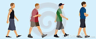 Teen Boys Walking