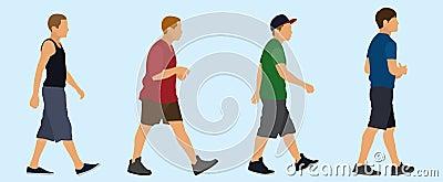 Teen Boys Walking