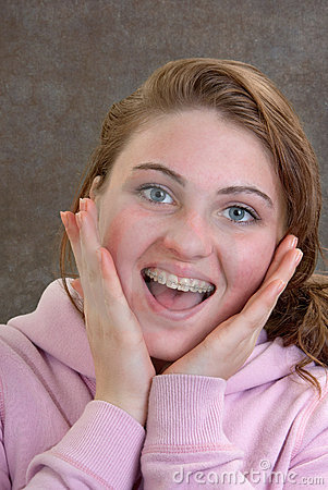 Teen with Braces