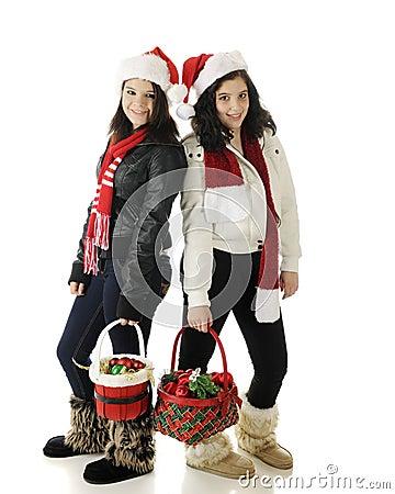 Teen Christmas Sisters