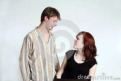 Teen couple fighting