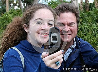 Teen Dad & Camera Phone