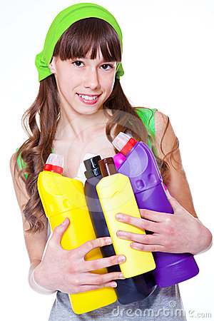 Teen with detergents