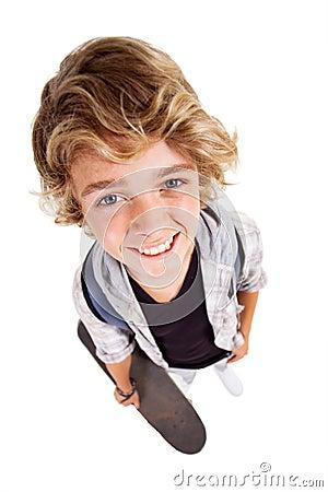 Teen distorted portrait